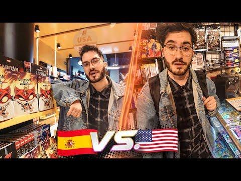 TIENDA DE COMICS AMERICANA VS ESPAÑOLA (100% CLICKBAIT NO FAKE)