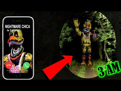 (SCARY) DONT FACETIME NIGHTMARE CHICA AT 3 AM! | NIGHTMARE CHICA FOUND!!!