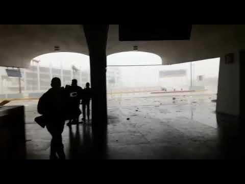 Footage from San Juan SJU airport during Hurricane Maria