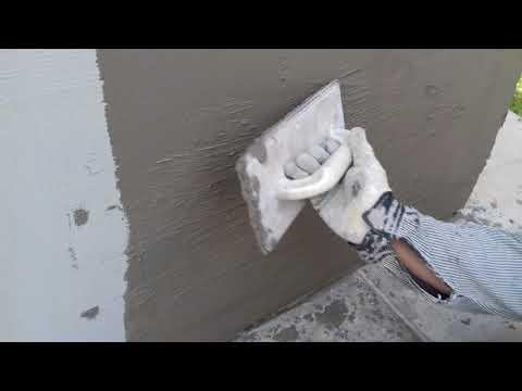 Штукатурка фасада стен своими руками видео