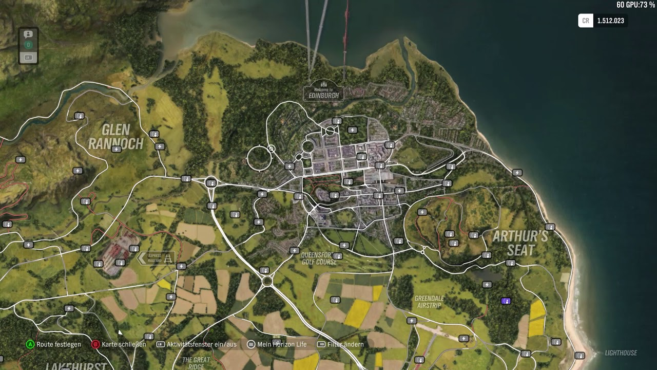 Forza Horizon 4 All Influence and Fast Travel Boards (Map only) on information only, drawing of only, index of only,