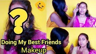Doing My Best Friends Makeup    Dashami Saari 2018 special Makeup Look