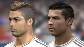 FIFA 14 vs PES 14 Head to Head Faces (3 angles view) | Real Madrid | HD 1080p