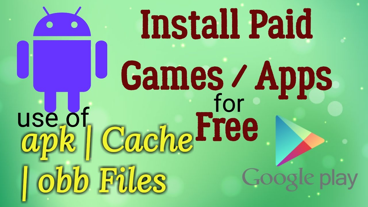 How to install games with a cache