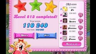 Candy Crush Saga Level 813     ★★★   NO BOOSTER