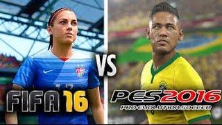 FIFA 16 vs PES 16 / Neymar, David Luiz y Benzema.