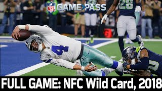 A Playoff Matchup Worth the Hype: Seahawks vs. Cowboys 2018 NFC Wild Card FULL GAME