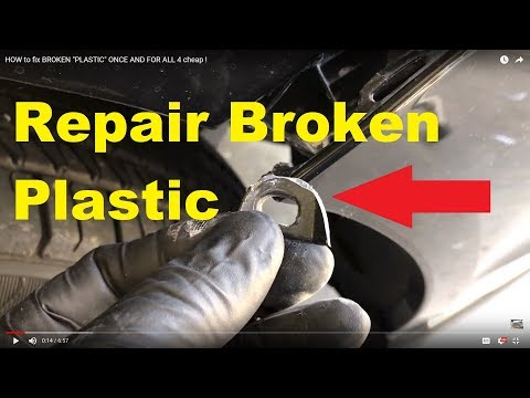 "HOW to fix BROKEN ""PLASTIC"" ONCE AND FOR ALL 4 cheap !"