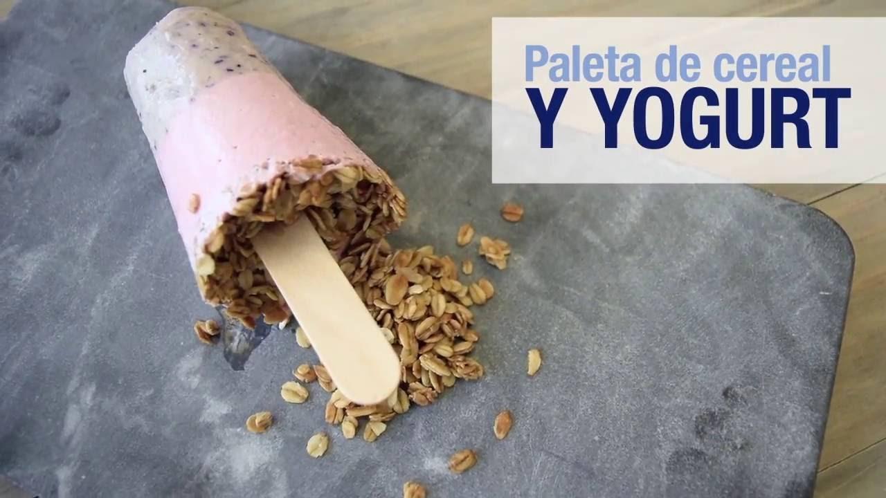 Paletas De Cereal Y Yogurt