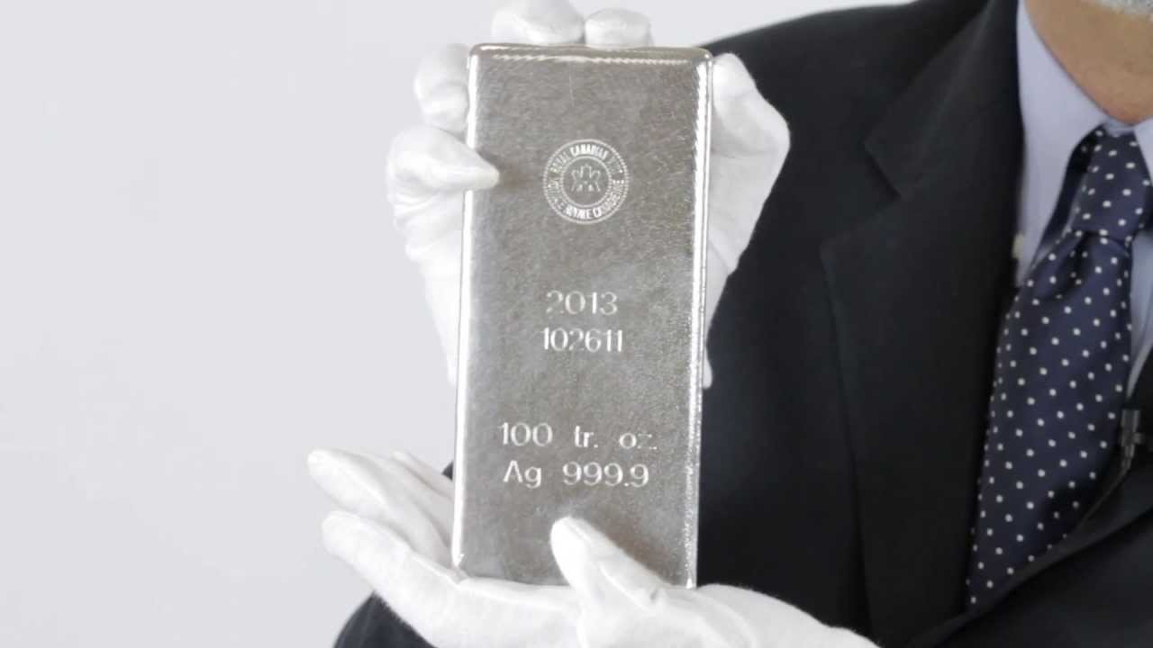 100 Oz Royal Canadian Mint Silver Bar 9999 Fine