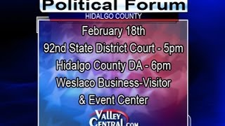 LIVE VIDEO: 92nd State District Judge Political Forum