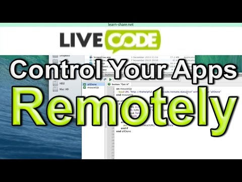 Livecode Tutorial Control Your Apps Remotely