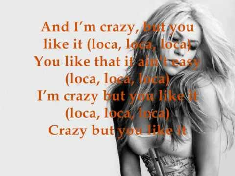 Shakira ft. Dizzee Rascal - Loca Lyrics on screen