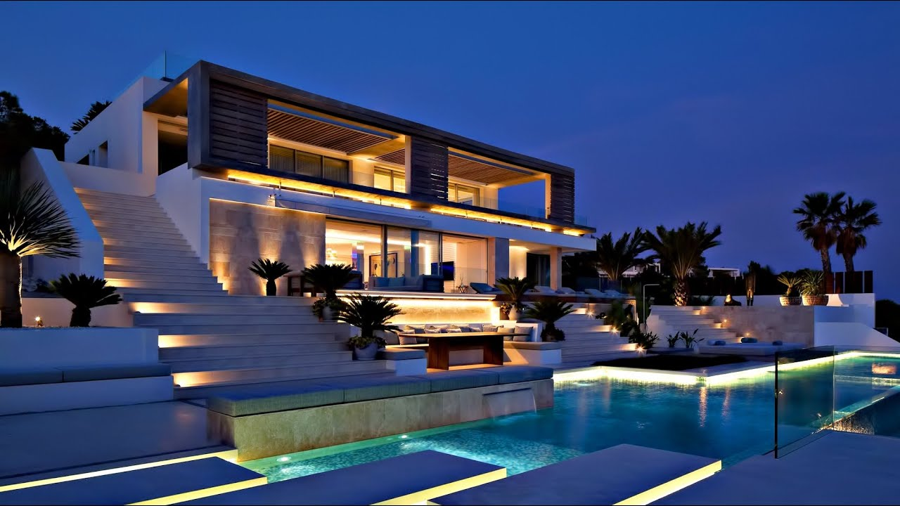 Spectacular Spanish Luxury Contemporary Modern Villa  Ibiza Balearic Islands Spain  YouTube
