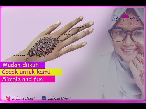 Tutorial Henna Cantik Dan Simple Henna Fun Cantik And Fun Youtube