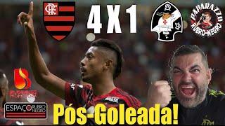 Pós-Goleada do Papa! Flamengo 4x1 Vices! Reações aos lances do jogão! Embalos do Rei dos Clássicos!