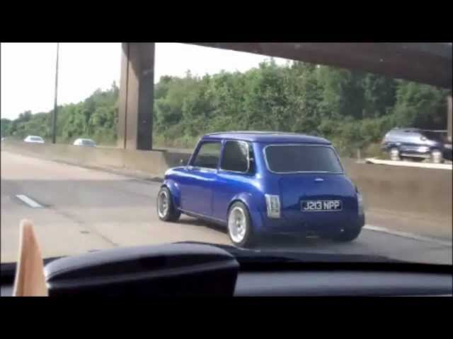 Crazy Fast Mini Morris Cooper In England Its Awesome Vintage Car