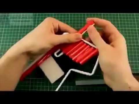 كيفية صنع مسدس من الورق   YouTube