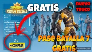 NUEVO TRUCO GRATIS PASE DE TEMPORADA 7 FORTNITE BATTLE ROYALE