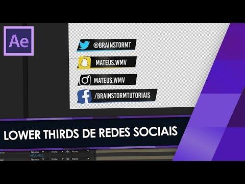 ANIMAÇÕES DE REDES SOCIAIS no AFTER EFFECTS! - Lower Thirds Facebook, Twitter, etc.