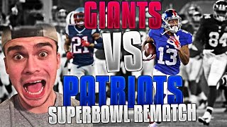 WHAT IF THE NEW ENGLAND PATRIOTS PLAYED THE NEW YORK GIANTS IN SUPER BOWL 51! MADDEN 17
