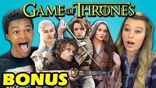Repeat youtube video TEENS REACT TO GAME OF THRONES (Bonus #89)