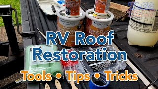 RV Roof Restoration with Dicor EPDM Rubber Roof