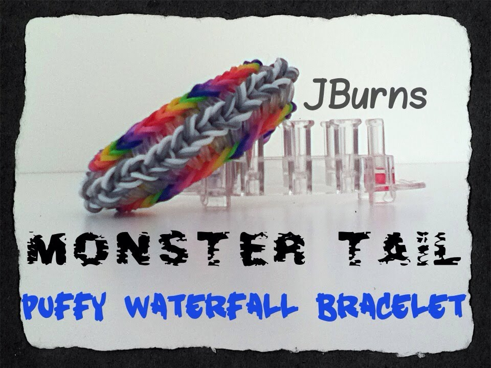 How To Loom Puffy Waterfall Bracelet Monster Tail Tutorial