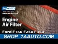 How To Install Replace Engine Air Filter Ford F150 F250 F350 87-96 1AAuto.com
