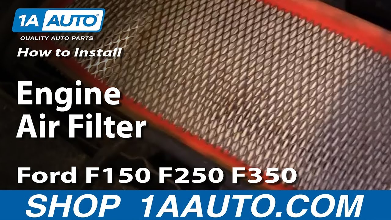 How To Install Replace Engine Air Filter Ford F150 F250