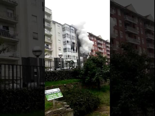 Incendio en la calle San Rafael de Santander