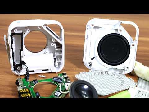 Look inside TDK A12 portable Speaker - What's Inside? + dB test