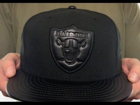 Raiders  TONAL TRICK  Black Fitted Hat by New Era - YouTube 00f193ac127