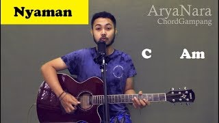 Chord Gampang (Nyaman - Virzha) by Arya Nara (Tutorial Gitar) Untuk Pemula