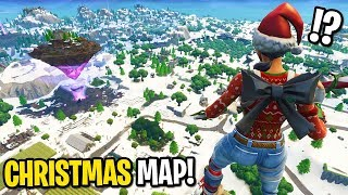 This CHEATER gave me the early CHRISTMAS Fortnite map and I played it...