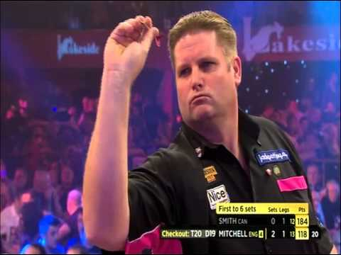 Darts World Championships Scott Mitchell V Jeff Smith