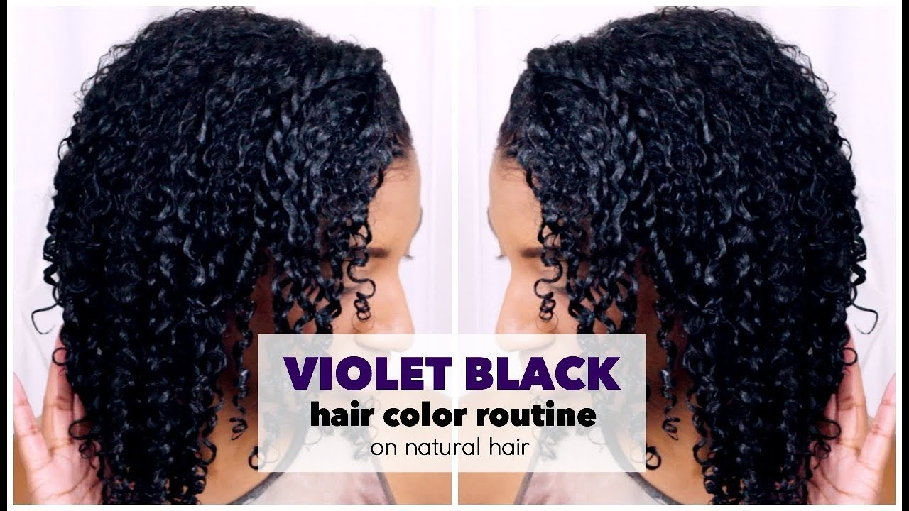 How To Dye Natural Hair Violet Black At Home W No Damage Youtube