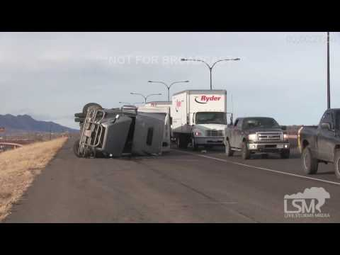 1-9-17 Monument, CO Significant Wind Damage, Flipped Vehicles