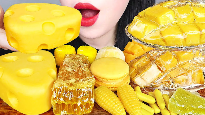 ASMR YELLOW FOOD 노란색 디저트 먹방 CHEESE CAKE, ICE CREAM, HONEYCOMB, TANGHULU, JELLY CANDY EATING MUKBANG
