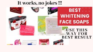 MY TOP MOST EFFECTIVE WHITENING FACE SOAP | SKIN WHITENING, PIMPLES AND BLACK SPOT SOAP
