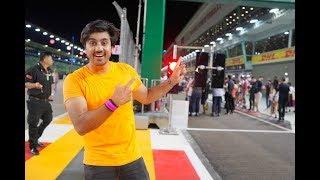 ON THE Formula 1 Race Track
