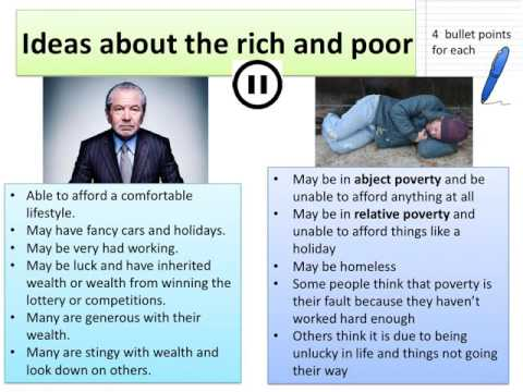 Rich and Poor in British Society