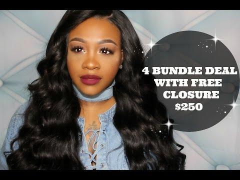 4 BUNDLES  & FREE CLOSURE BUNDLE DEAL $250 | THE HOUSE OF BUNDLES