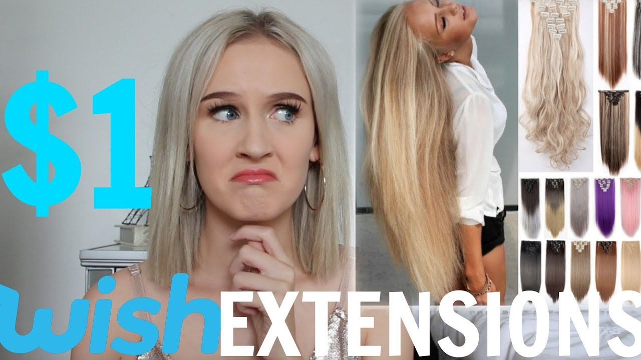 I Wore Wish Hair Extensions For A Week Youtube