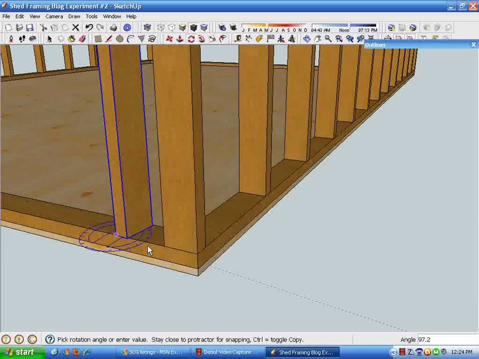 SU Blog #2 Part D Wall Stud Framing.wmv - YouTube
