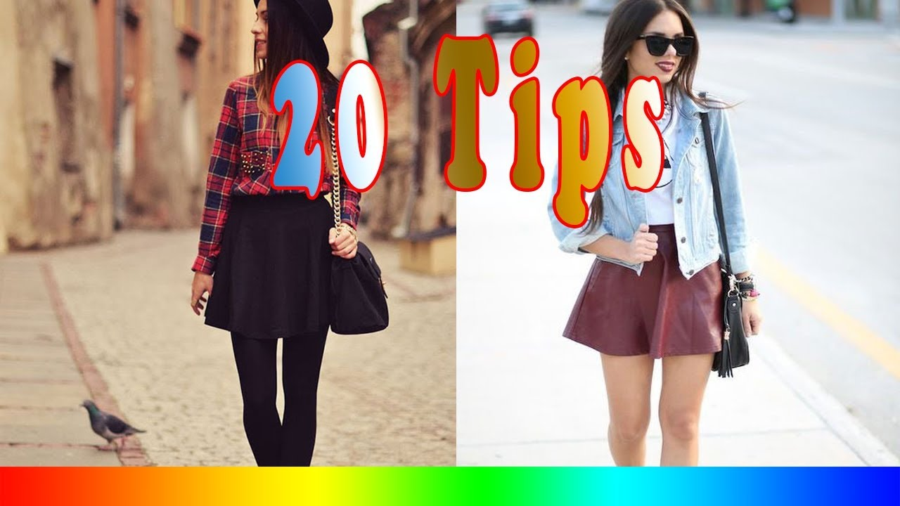 6bf95bca1f4 20 Style Tips On How To Wear Skater Skirts - YouTube