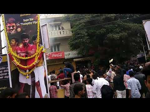 Mersal celebration in Bangalore theatre