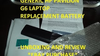 HP Pavilion Generic Replacement Battery - Unpackaging and Review (Ebay Purchase)