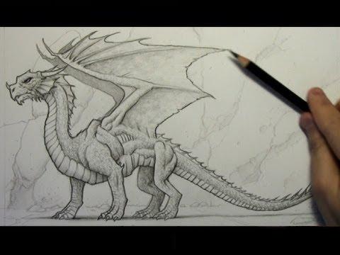 drawing time lapse dragon youtube