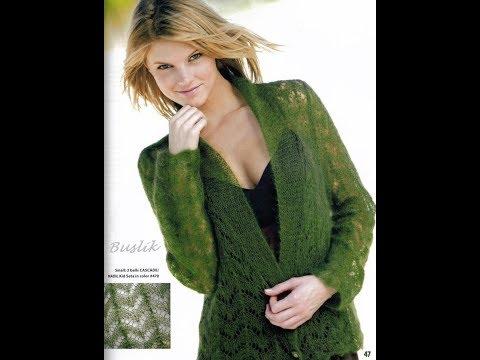 Зеленый Вязаный Кардиган - 2019 / Green Knitted Cardigan / Grüne Gestrickte Strickjacke